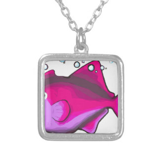 Triggerfish! Silver Plated Necklace