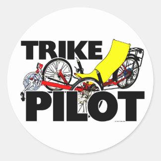 Trike Pilot Round Sticker