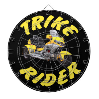 Trike Rider in Yellow Dartboard