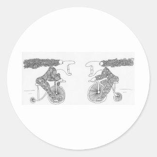 trikecrash - Copy Round Sticker