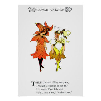 Trillium and Tiger-Lily Poster