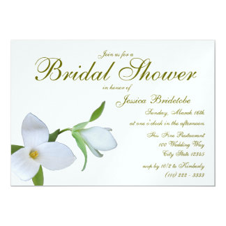 "Trillium Spring Bridal Shower 5"" X 7"" Invitation Card"