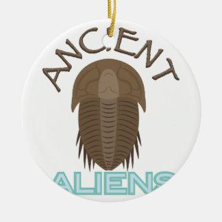 Trilobite Ancient Aliens Round Ceramic Ornament