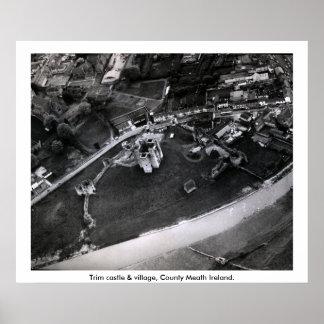 Trim castle aerial photograph, Meath Ireland Poster