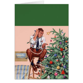 Trimming the Christmas Tree Card