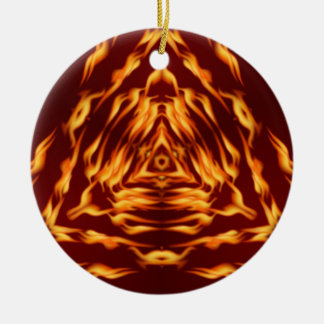 Trinary Fire Round Ceramic Ornament