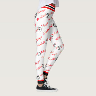 Trini / Trinidad & Tobago Patriotic - White Leggings