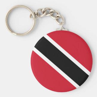 trinidad and tobago basic round button keychain