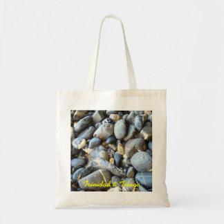 Trinidad and Tobago Beach Stones Budget Tote Bag