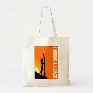 Trinidad and Tobago Beach Surfer Budget Tote Bag