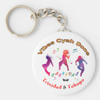 Trinidad and Tobago Carnival Basic Round Button Keychain