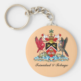 Trinidad and Tobago Coat Of Arms Basic Round Button Keychain