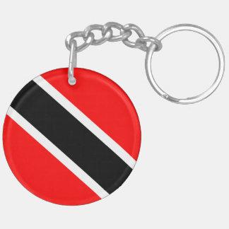 Trinidad and Tobago Double-Sided Round Acrylic Keychain