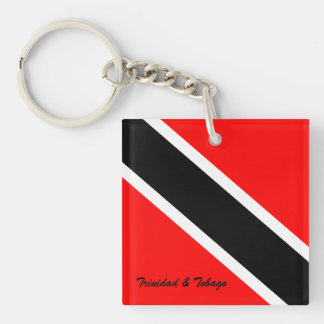 Trinidad and Tobago Double-Sided Square Acrylic Keychain