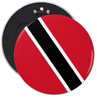 Trinidad and Tobago Flag 6 Inch Round Button