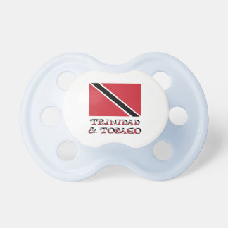 Trinidad and Tobago Flag and Words Pacifier