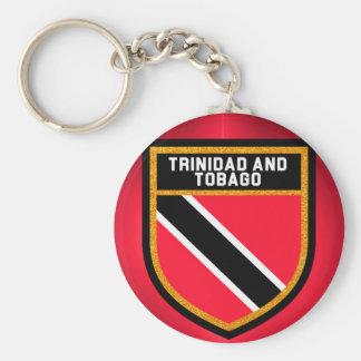 Trinidad And Tobago Flag Basic Round Button Keychain