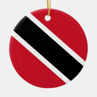 Trinidad and Tobago Flag Ceramic Ornament