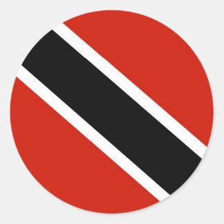 Trinidad and Tobago flag Classic Round Sticker