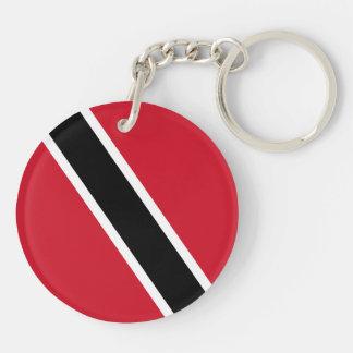 Trinidad and Tobago Flag Double-Sided Round Acrylic Keychain
