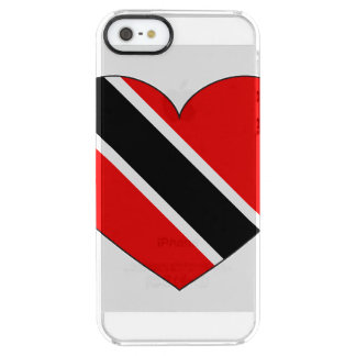 Trinidad and Tobago Flag Heart Clear iPhone SE/5/5s Case