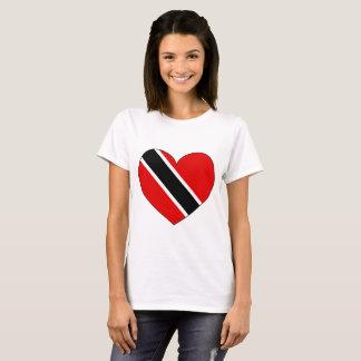 Trinidad and Tobago Flag Heart T-Shirt
