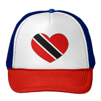 Trinidad and Tobago Flag Heart Trucker Hat