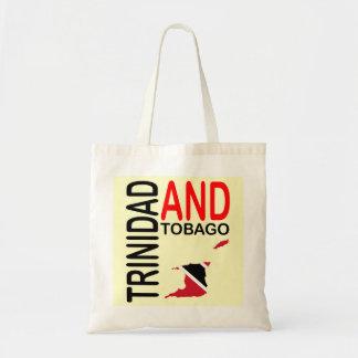 Trinidad and Tobago Flag Map Budget Tote Bag
