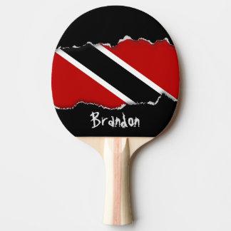 Trinidad and Tobago Flag Ping Pong Paddle