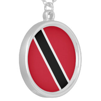 Trinidad and Tobago Flag Silver Plated Necklace