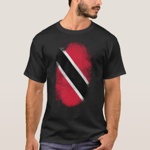 Trinidad  and Tobago Flag Souvenir - Distressed T-Shirt