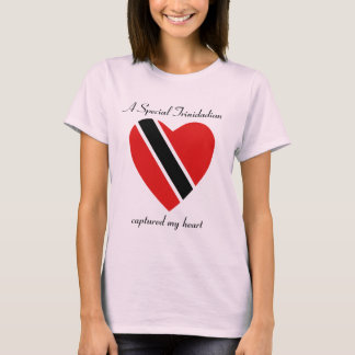 Trinidad and Tobago Flag Sweetheart T-Shirt