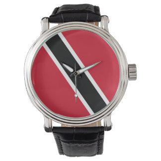 Trinidad and Tobago Flag Wrist Watch