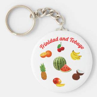 Trinidad and Tobago Fruits Basic Round Button Keychain