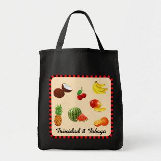 Trinidad and Tobago Fruits Grocery Tote Bag