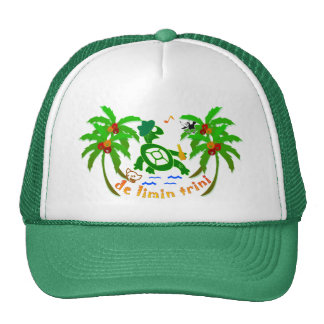 Trinidad and Tobago hats, caps, gifts, limin,