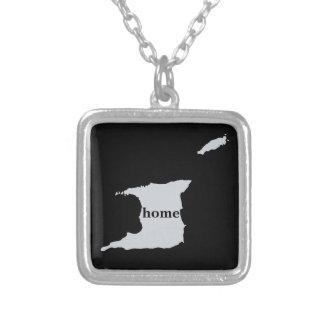 Trinidad And Tobago Home Square Pendant Necklace