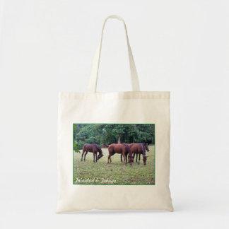 Trinidad and Tobago Horses At Ortinola Estate Budget Tote Bag