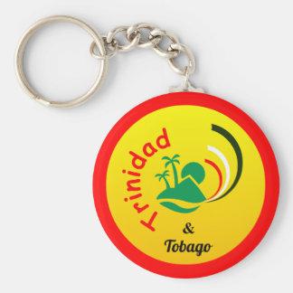 Trinidad and Tobago Islands Basic Round Button Keychain