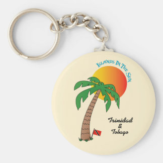 Trinidad and Tobago Islands In The Sun Basic Round Button Keychain