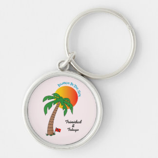 Trinidad and Tobago Islands In The Sun Silver-Colored Round Keychain