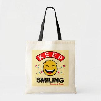 Trinidad and Tobago Keep Smiling Yellow Smiley Tote Bag