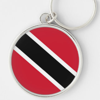 TRINIDAD and TOBAGO Silver-Colored Round Keychain