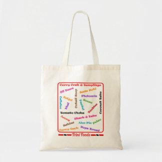 Trinidad and Tobago Local Foods Budget Tote Bag