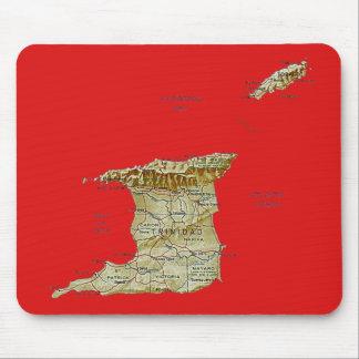 Trinidad and Tobago Map Mousepad