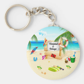 Trinidad and Tobago Maracas Beach Keychain