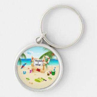 Trinidad and Tobago Maracas Beach Silver-Colored Round Keychain