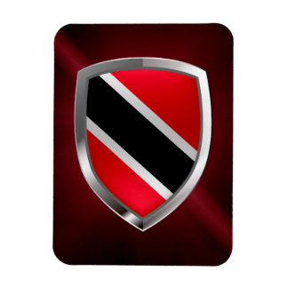 Trinidad and Tobago Metallic Emblem Rectangular Photo Magnet
