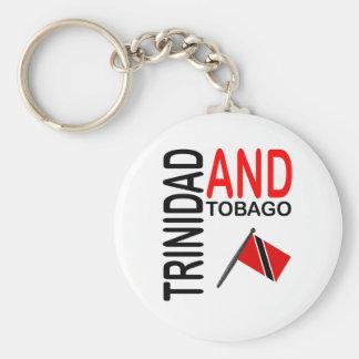 Trinidad and Tobago National Flag Basic Round Button Keychain