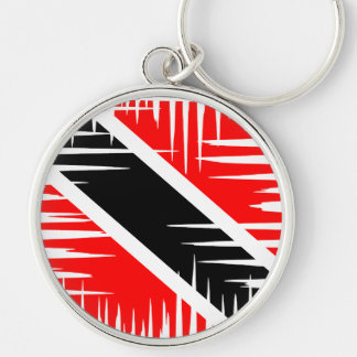 Trinidad and Tobago National Flag Silver-Colored Round Keychain